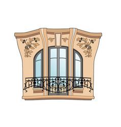 Art deco window vector