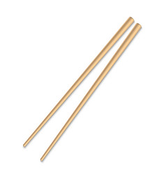 Asian wooden chopstick isolated vector