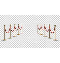 barriers with red rope line vip zone closed vector image