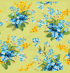 beautiful floral seamless pattern with forget-me vector image