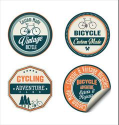 bicycle retro vintage badge collection vector image