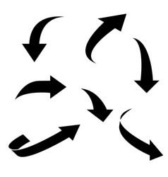 Black arrows vector