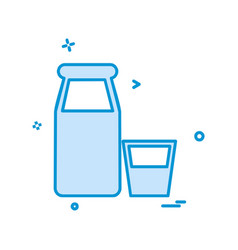 bottles icon design vector image
