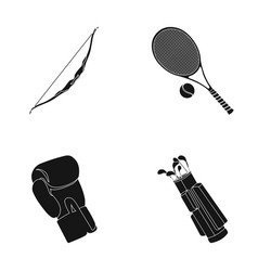 bow for shooting at the target racket with a ball vector image
