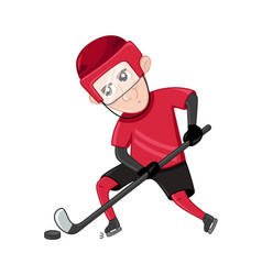 boy ice hockey player in sport uniform vector image