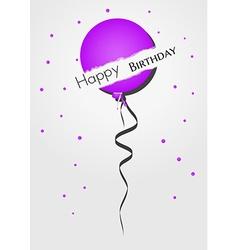 broken balloon and confetti vector image