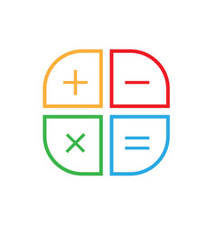calculator icon flat style vector image
