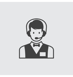 Call centre icon vector image