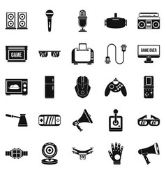 Camcorder icons set simple style vector