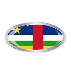Central african republic flag oval button vector
