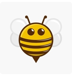 Character little bee vector