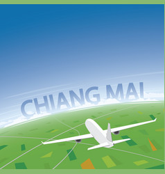 Chiang mai flight destination vector