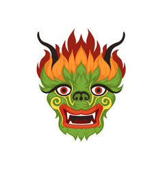 Chinese dragon face colorful symbol of vector