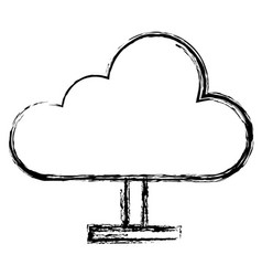 cloud computing server icon vector image