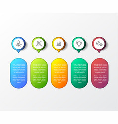 colorful infographic with 3d table vector image