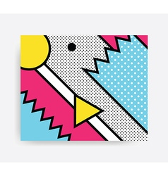 Colorful pop art pattern vector