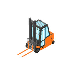 counterbalance forklift truck vector image