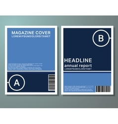 Cover brochures template vector image