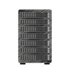 data center server isolated icon vector image