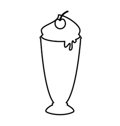 delicious milk shake icon vector image