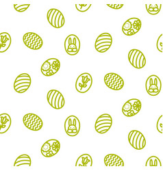 easter outline icon seamless pattern vector image
