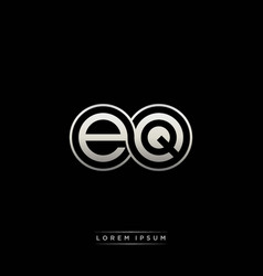 eq initial letter linked circle capital monogram vector image