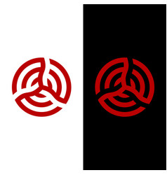 Geometric triskelion abstract circle graphic shape vector