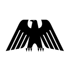 Heraldic black eagle vector