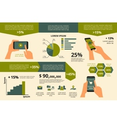 Infographic visualization usability smartphone vector