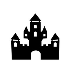 ingle silhouette fortress vector image