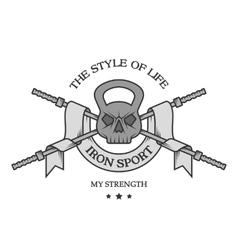 Iron sports logo emblem vector