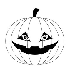 isolated cute halloween pumpkin icon vector image