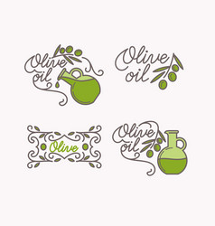 linear set logos olive oil vector image