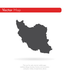 map iran isolated black on vector image