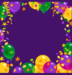 Mardi gras carnival background with colorfull vector