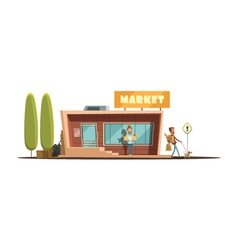 Market building vector