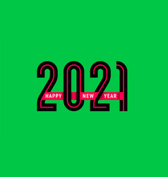 new year 2021 design 10eps vector image