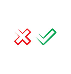 no and yes checkmark icon symbol vector image