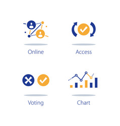 Online voting personal data collecting vector