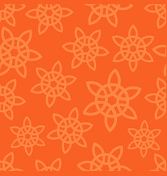 Oriental ornament on orange background vector