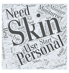 Personal Skin Care Word Cloud Concept vector