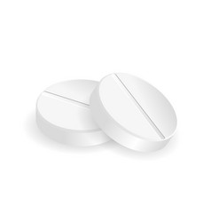 Pills in round shapes vector