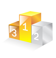 podium ranking numbers one two three vector image