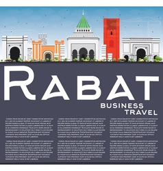 Rabat Skyline with Gray Buildings vector