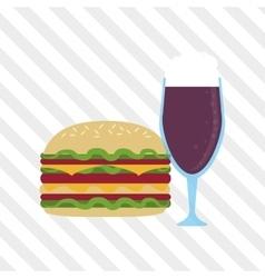 Sandwich design healthy food menu icon vector image