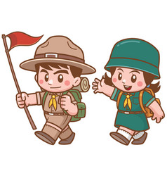 Scout kids vector