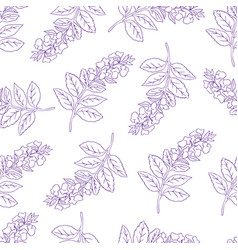 Seamless pattern with violet con vector