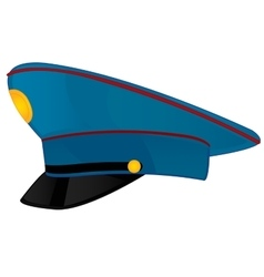 Service cap police on white background vector image