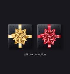 set 2 black gift boxes decorative men presents vector image