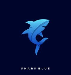 shark template vector image